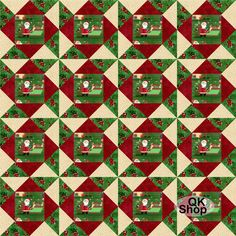 Santa Christmas Delivery Pre-Cut Quilt Kit