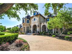 1502 WILLS COURT WESTLAKE, TX 76262 - $4,375,000  One of the largest and most private lots in all of Vaquero. The mature trees give privacy and shade to the recirculating stream that runs along side the guest house, pool, fire pit, and putting green. Boasting 5 bdrms in the main house and one in the guest house, 7 full baths, one powder bath, downstairs media room, two story office, an elevator to the wine cellar, an exercise room, full scale golf simulator and a 5 car garage.