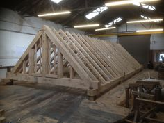 Roof Built for Boat yard. Nice Mullion Gable (Norton Timber design)