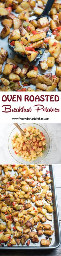 The BEST method for creating a big batch of crispy breakfast potatoes. Also great as a dinner side dish! ~ http://www.fromvalerieskitchen.com