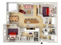 2 bedroom - Grotto floor plan - rendering - Brand new apartments! 2 Bedroom House Plans, House Floor Plans, Two Bedroom Apartments, One Bedroom Apartment, Albion House, Springfield House, Craftsman Style House Plans, Flat Rent, Bedroom With Ensuite