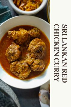 This spicy Sri Lankan chicken curry is a must for every Sri Lankan food lovers and curry lovers. This broth can literally transfer anything bland into something really really good. #chicken #curry #red #srilanka #srilankan #chickencurry #spicy