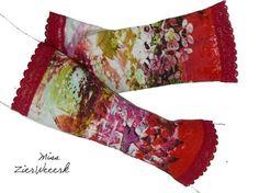 GarZenKunst Armstulpen 2 Jersey/Spitze Gr. M AKR15 von Miss ZierWeeerk auf DaWanda.com