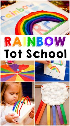 Rainbow Theme Tot School ~ Loads of free printables and ideas!