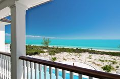 Balcony view to the beach and ocean.
