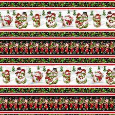 Christmas Border, Black Christmas, Christmas Colors, Family Christmas, Christmas Fabric, Cotton Quilting Fabric, Cotton Quilts, Green Christmas Stockings, Christmas Gift Tags