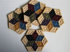 Quilted Coasters Amish Inspired Rustic Star Primitive by dlf724
