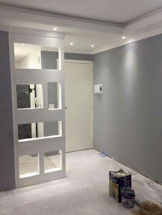 Pooja Room Design, Home Room Design, Home Interior Design, House Design, Gypsum Ceiling Design, False Ceiling Design, Living Room Partition, Easy Home Decor, House Rooms