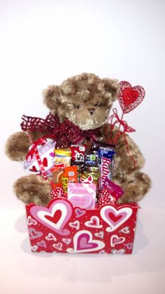 Cuddle Buddy Love Substitutions of equal or greater value may be made depending on season and availability. Valentine's Day Flower Arrangements, Buddy Love, Cuddle Buddy, Gift Baskets, Cuddling, Valentines Day, Teddy Bear, My Favorite Things, Sweet