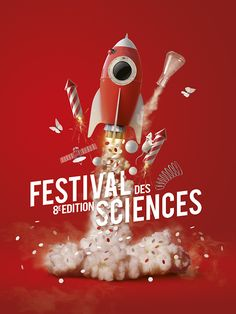 Sciences Festival by JC Debroize, via Behance Éclaté. 3d Design, Flyer Design, Print Design, Design Graphique, Art Graphique, Creative Advertising, Advertising Design, 3d Poster, Poster Prints