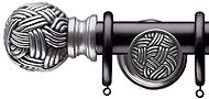 Regency Emperor 35mm & 48mm Black Curtain Pole, Wessex