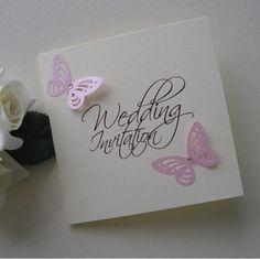RJ Wedding Stationery Handmade Wedding Invites and Wedding Stationery - Butterfly Design