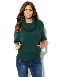Shop Mixed Cable Dolman Sleeve Pullover. Find your perfect size online at the best price at New York & Company.