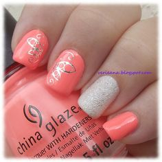 #chinaglaze Flip Flop Fantasy and #opi Solitaire with decals