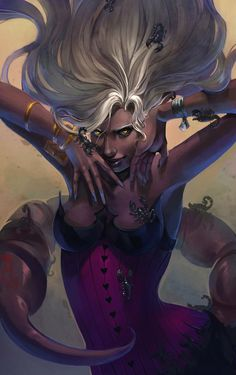 Scorpion - Digital Art by Alice Chan Scorpio Art, Scorpio Woman, Zodiac Art, Lilith In Scorpio, Scorpio Child, Scorpio Tattoos, Scorpio Traits, Digital Art Girl, Dark Elf