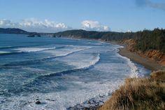 Oregon coast (January 11, 2007).