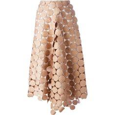 Marni 'Dot Macramé' A-line skirt ($1,210) ❤ liked on Polyvore featuring skirts, bottoms, marni, юбки, asymmetrical skirt, high-waisted skirts, white a line skirt, pink skirt and pink high waisted skirt