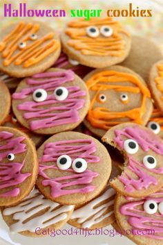 100% Whole Wheat Halloween Sugar Cookies | from Eat Good 4 Life | Absolutely darling! Your little goblins will GOBBLE these up!