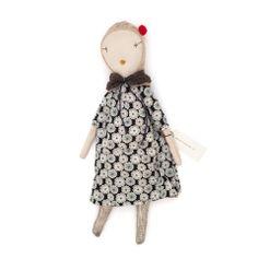 Jess Brown Rag Doll - Floral Dress & Stole - Half Hitch Goods