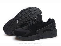 nike dunk rare - Nike Air Huarache Tout noir - Chaussure Pour Homme Triple Nike ...