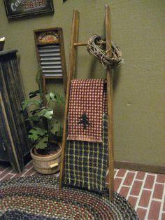 Dollhouse ladder country decor