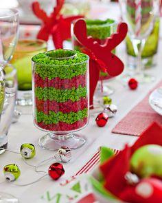 Christmas table set 3 ways