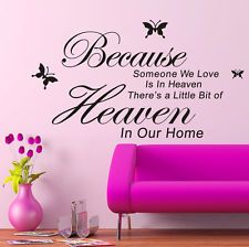 Words Quote Art Wall Stickers Removable PVC Vinyl Decal Mural Home Room Decor