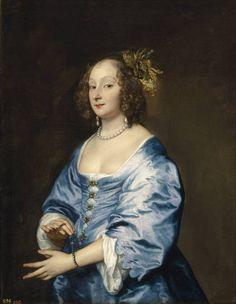 Anthony van Dyck (1599-1641), Portrait of Mary Ruthven, Lady van Dyck (detail), ca. 1639  Museo Nacional del Prado