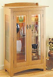 Craftsman Curio Cabinet (Build it yourself).  Love this.