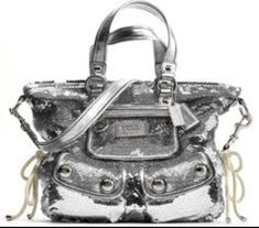 Silver Coach Bag.