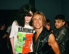 Joey Ramone & Iggy Pop