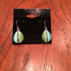 BRAND NEW Earrings Great color hanging earrings! Sterling  sliver never worn because my ears are too small and I don't wear hanging earrings!! Jewelry Earrings