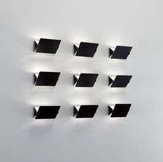 PHILLIPS : Charlotte Perriand, Set of nine wall lights, model no. Charlotte Perriand, Interior Lighting, Lighting Design, Have Some Fun, Metallic Paint, Inspired Homes, Light Up, Wall Lights, Objects