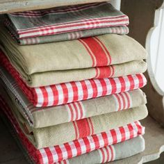 Red and Khaki Plaid tablecloth by At Home with Marieke.