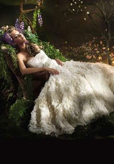 Handmade Dream Series Romantic Wedding Dress DW3000 made to order, custom made, silk tulle, floral net, bridal gown, with Swarovski beads [GW3000] - $1,788.00 :