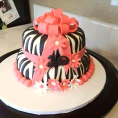 Zebra Print Cake 50th Birthday Party, Birthday Cakes, Zebra Print Cakes, Zoo Cake, Different Cakes, Beautiful Cakes, Cake Ideas, Party Ideas, Desserts