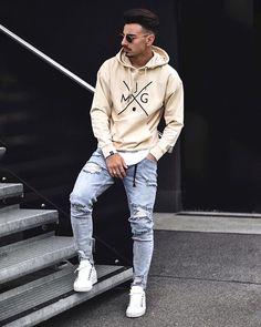 New Sweatshirt Street Style Men Casual Ideas Dope Fashion, Fashion Outfits, Mens Fashion, Style Fashion, Fashion Hair, Fashion Styles, Fashion Boots, Fashion Tips, Men Looks
