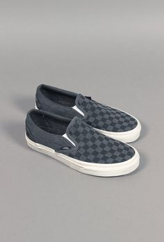 Classic Slip-On Overwashed Black/Checker