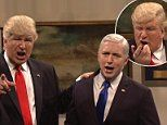 'So, I heard you went to Hamilton, Mike': Alec Baldwin portrays a clueless President Trump who bullies Pence, asks SIRI about ISIS and holds awkward meeting with Romney in scathing SNL skit   Daily Mail Online