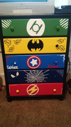 Super hero dresser is complete....for me it would be Marvel only-Captain America, Thor, Iron Man, Hulk and Hawkeye