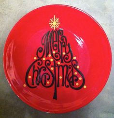 "Merry Christmas ""Printable"" Plate 
