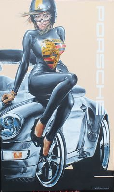 Acrylic on canvas Porsche