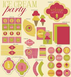 Ice Cream Party PRINTABLE by Love The Day