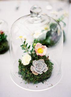 we ❤ this! moncheribridals.com #belljarcenterpiece #clochecenterpiece #weddingcenterpiece