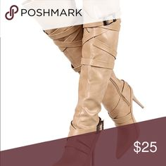 Knee high boots *listed here for view* Tan cream color BRAND NEW! Shoes Over the Knee Boots