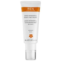 Shop Ren's Wake Wonderful Night-Time Facial at Sephora. The multitasking overnight treatment  leaves skin brighter, revitalized, and deeply hydrated.