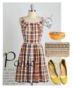 """paris"" by masayuki4499 ❤ liked on Polyvore featuring Skemo, Ippolita and plus size dresses"