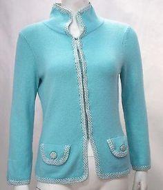 Banana Republic Classic Aqua Collar Cardigan Sweater Jacket * #BananaRepublic #Cardigan