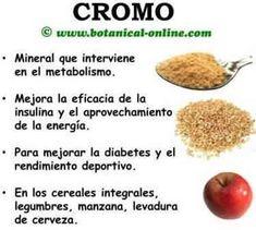 Cromo,minerales para la salud humana