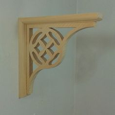 Items similar to Four Diamonds - Wood Shelf Bracket on Etsy Wooden Shelf Brackets, Wood Shelf, Wooden Shelves, Handmade Wooden, Diamonds, Mirror, Unique Jewelry, Etsy, Furniture